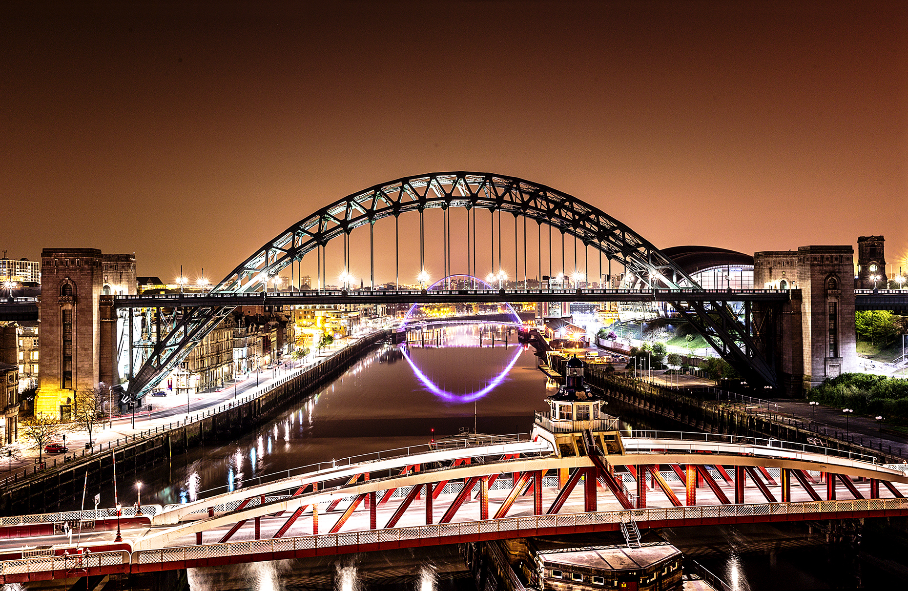 Cities at Night - Newcastle