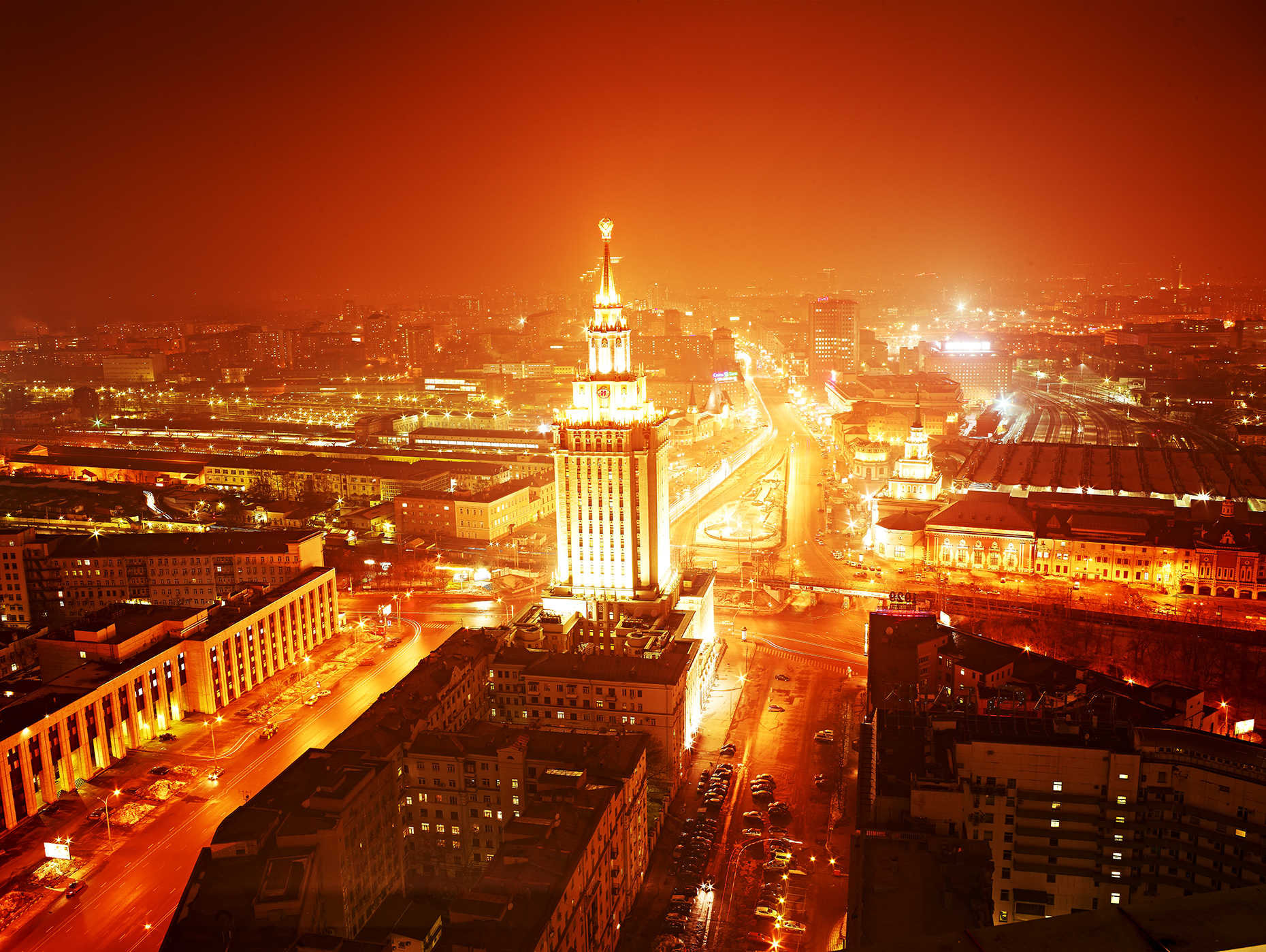 Cities at Night -  Moscow